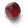 Glass Bead Cubes 8mm Garnet With Diagonal Hole Strung